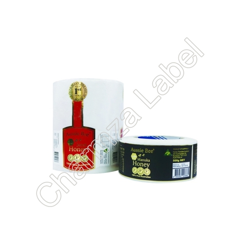 Custom Printed Adhesive Paper Honey Label Printing