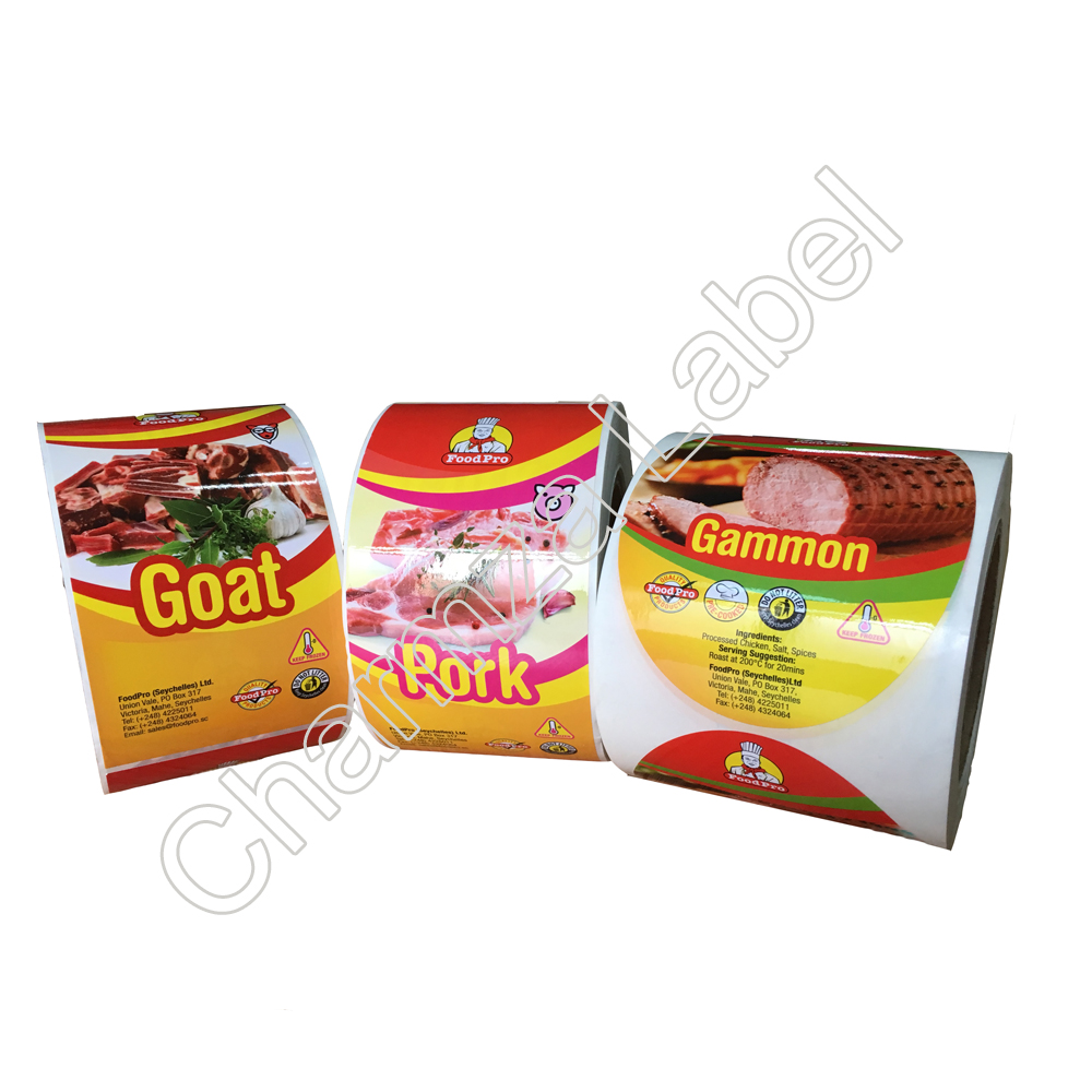 Custom high quality stickers Frozen Meat Label