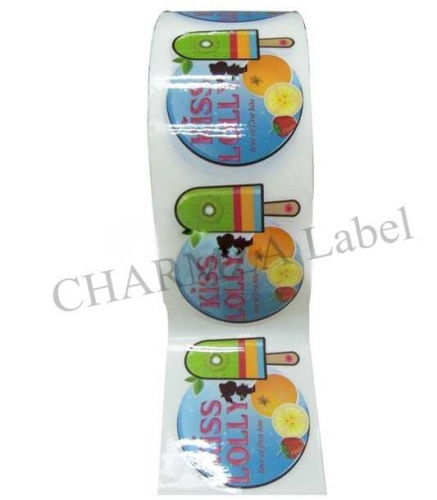 Fruit Round Adhesive Sticker Printing