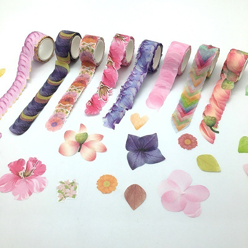 Custom Design Petal Washi Stickers